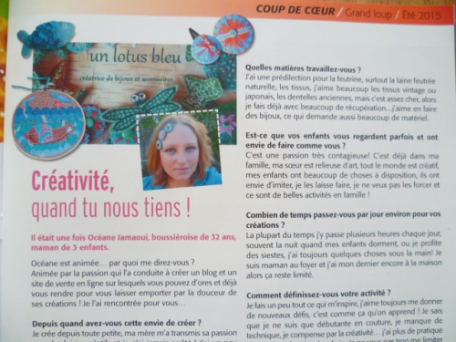 article fleur de lotus blog, article un lotus bleu A little market
